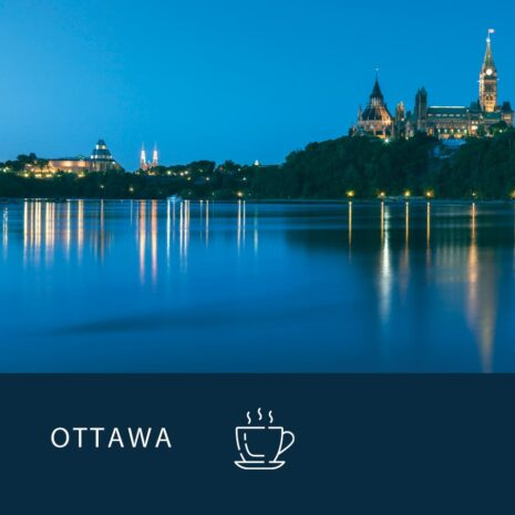 Power Breakfast Series in Ottawa, with the Rideau Canal in the background.